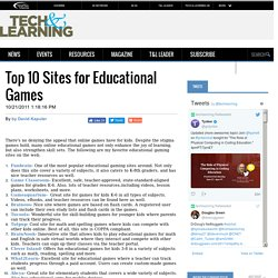 Top 10 Sites for Educational Games