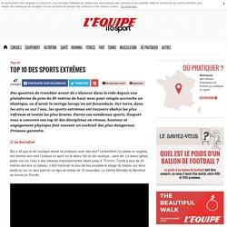 Top 10 des sports extrêmes