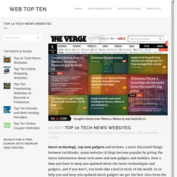 Top 10 Tech News Websites