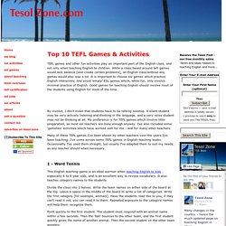 Top 10 TEFL Games and Activities