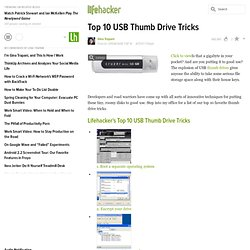 Top 10: LH Top 10: USB thumb drive tricks - Lifehacker