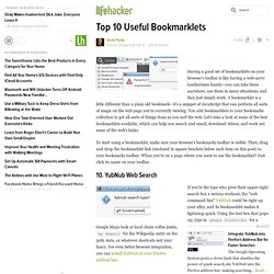 Top 10: Top 10 Useful Bookmarklets