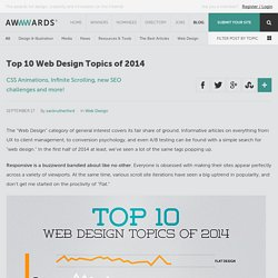 Top 10 Web Design Topics of 2014