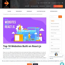 Top 10 Websites Built on React.js