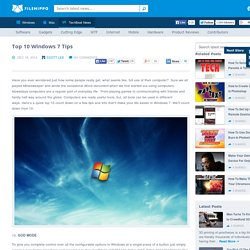 Top 10 Windows 7 Tips