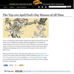 Top 100 April Fool's Day Hoaxes Of All Time