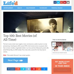 Top 100: Best Movies (of All-Time) | Lifed - StumbleUpon