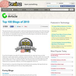 Top 100 Blogs of 2010