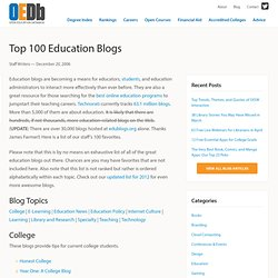 Top 100 Education Blogs