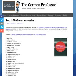 Top 100 German verbs - The German Professor