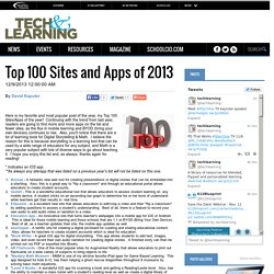Top 100 Sites and Apps of 2013