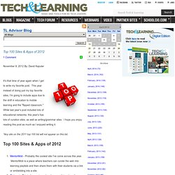 - Top 100 Sites & Apps of 2012