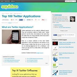 Twitter Applications List You'll Ever Need