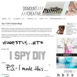 Top 11 DIY Fashion Blogs · Dismount Creative