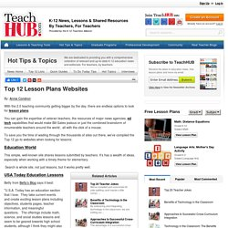 Top 12 Lesson Plans Websites