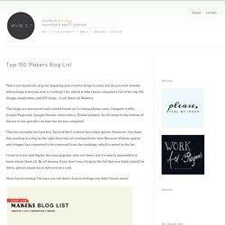 Top 150 Makers Blog List