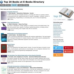 Top 20 most Viewed and Downloaded Books at E-Books Directory