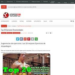 Top 20 Ejercicios recomendados