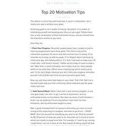 » Top 20 Motivation Hacks – An Overview