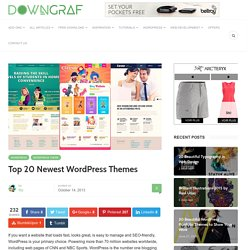 Top 20 Newest WordPress Themes