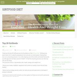 Top 20 Sirtfoods - SIRTFOOD DIET