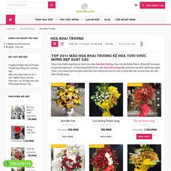 TOP 200+ mẫu hoa Khai Trương Kệ Hoa chúc mừng đẹp xuất sắc