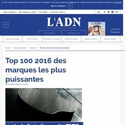 Top 100 2016 des marques les plus puissantes