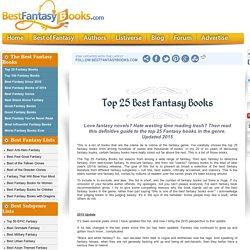 Top 25 Best Fantasy Books
