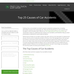 Top 25 Causes of Car Accidents