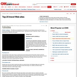 Top 25 travel Web sites