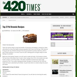 Top 3 Pot Brownie Recipes