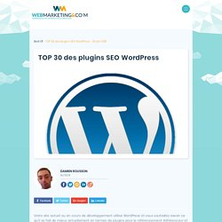 TOP 30 des plugins SEO Wordpress