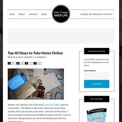 Top 40 Ways to Take Notes Online