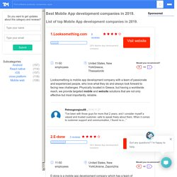 Seasia Infotech listed as Best Mobile App development company