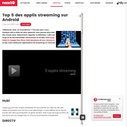 Top 5 des applis streaming sur Android