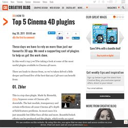 Top 5 Cinema 4D plugins