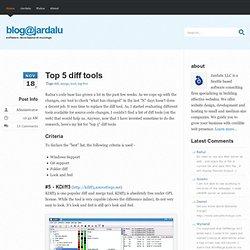 Top 5 diff tools