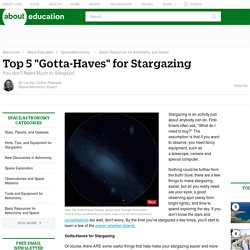 "Top 5 ""Gotta-Haves"" for Stargazing"