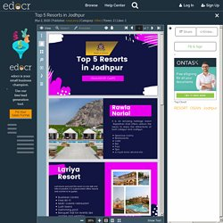 Top 5 Resorts in Jodhpur