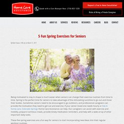 Top 5 Spring Exercises for the Elderly