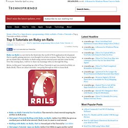 Top 5 Tutorials on Ruby on Rails