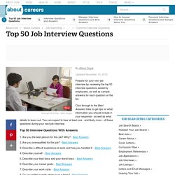 Top 50 Job Interview Questions