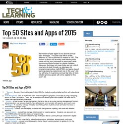Top 50 Sites and Apps of 2015