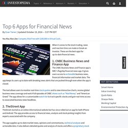 Top 6 Apps for Financial News