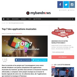 Top 7 des applications musicales