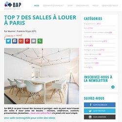 Top 7 des salles à louer à Paris