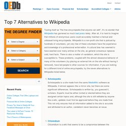 Top 7 Alternatives to Wikipedia