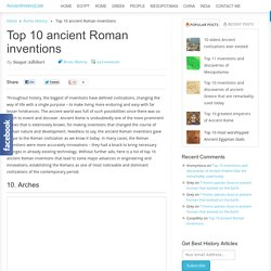 Top 10 ancient Roman inventions