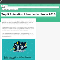Top 9 Animation Libraries to Use in 2016