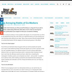 Top Annoying Habits of Co-Workers